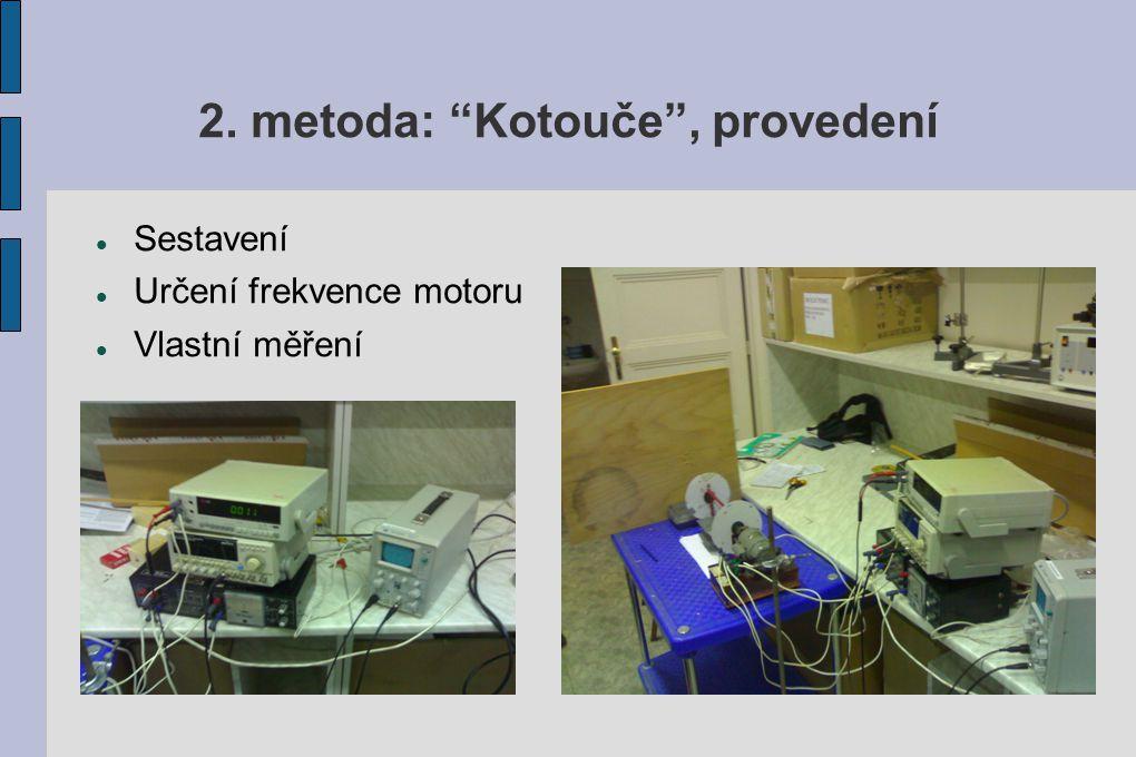 """2. metoda: """"Kotouče"""", provedení Sestavení Určení frekvence motoru Vlastní měření"""