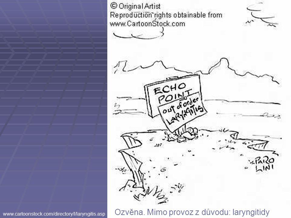 www.cartoonstock.com/directory/l/laryngitis.asp Ozvěna. Mimo provoz z důvodu: laryngitidy