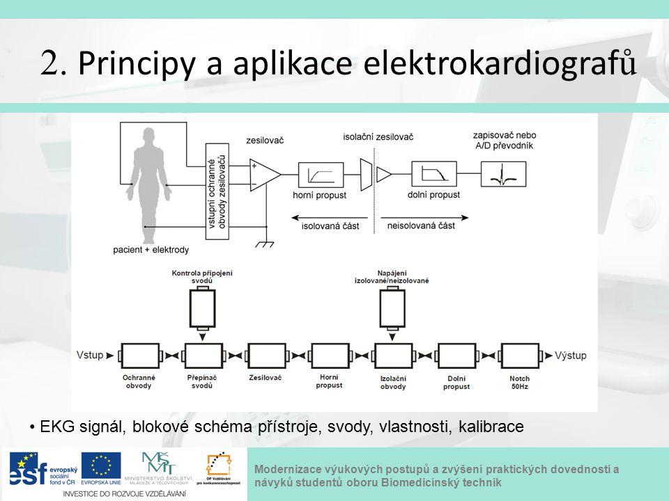 Modernizace výukových postupů a zvýšení praktických dovedností a návyků studentů oboru Biomedicínský technik 2. Principy a aplikace elektrokardiograf