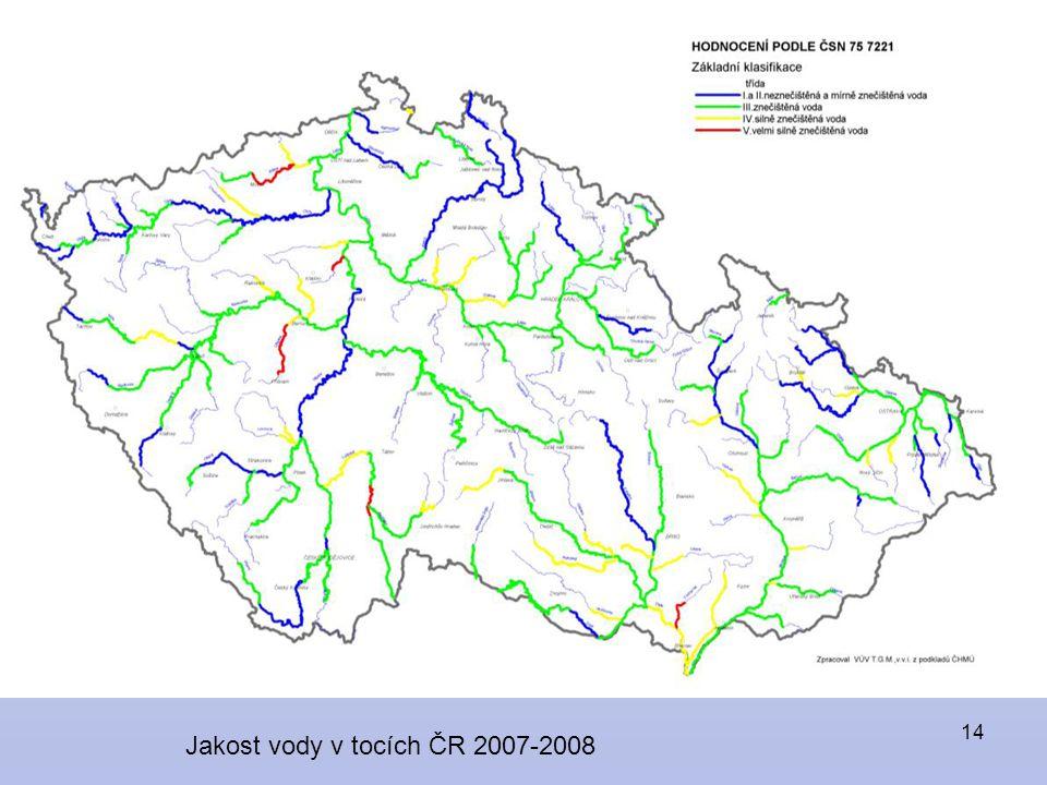 14 Jakost vody v tocích ČR 2007-2008