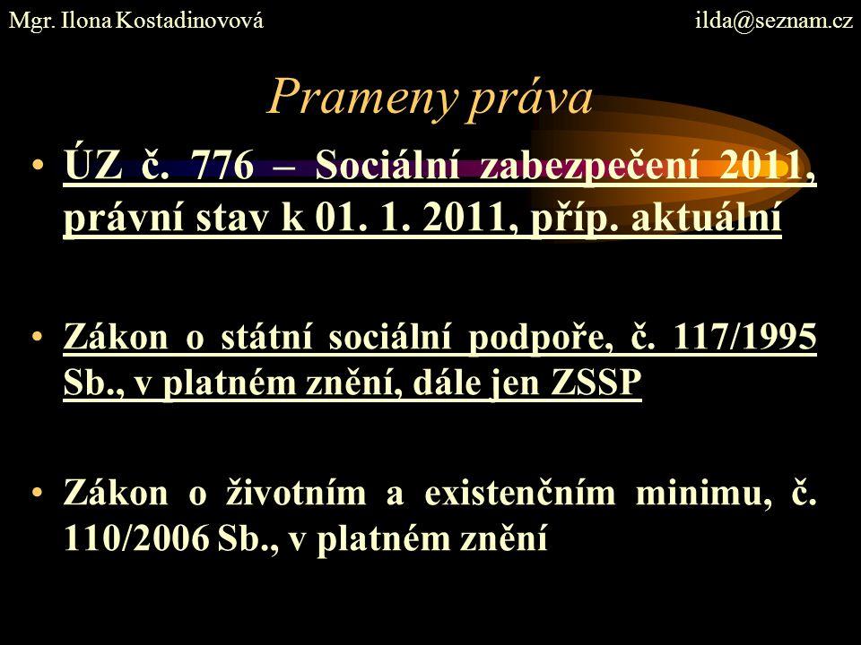 Prameny práva ÚZ č. 776 – Sociální zabezpečení 2011, právní stav k 01.