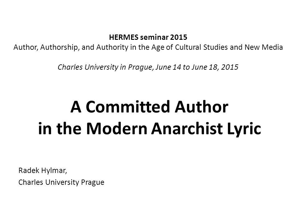 HERMES seminar 2015:Charles University in Prague, June 14 to June 18, 2015