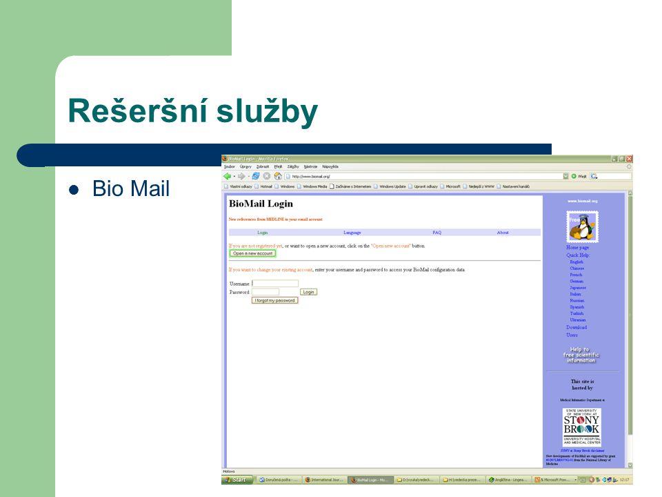 Rešeršní služby Bio Mail