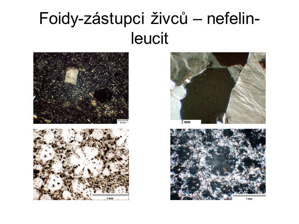 Foidy-zástupci živců – nefelin- leucit