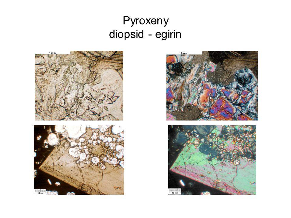 Pyroxeny diopsid - egirin