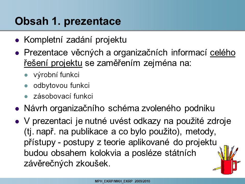 MPH_EKRP/MKH_EKRP 2009/2010 Obsah 1.