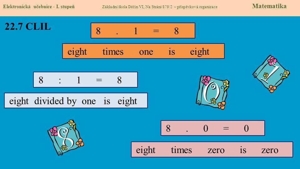 22.8 Test znalostí Správné odpovědi: 1.d 2.a 3.d 4.c Test na známku Elektronická učebnice - I.