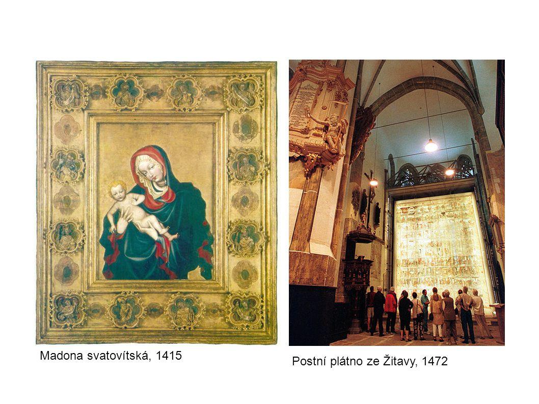 Deska ze sv. Tomáše v Brně, avers a revers, 30. léta 15. stol.