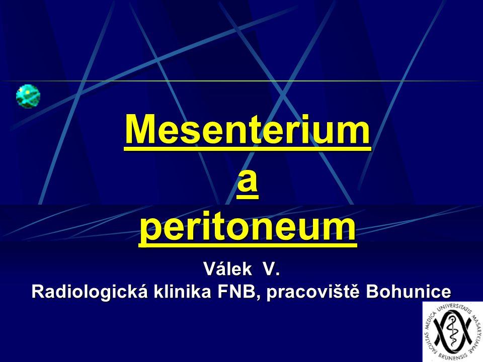 Mesenterium a peritoneum Válek V. Radiologická klinika FNB, pracoviště Bohunice