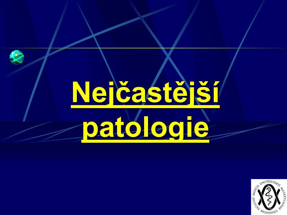 Nejčastější patologie