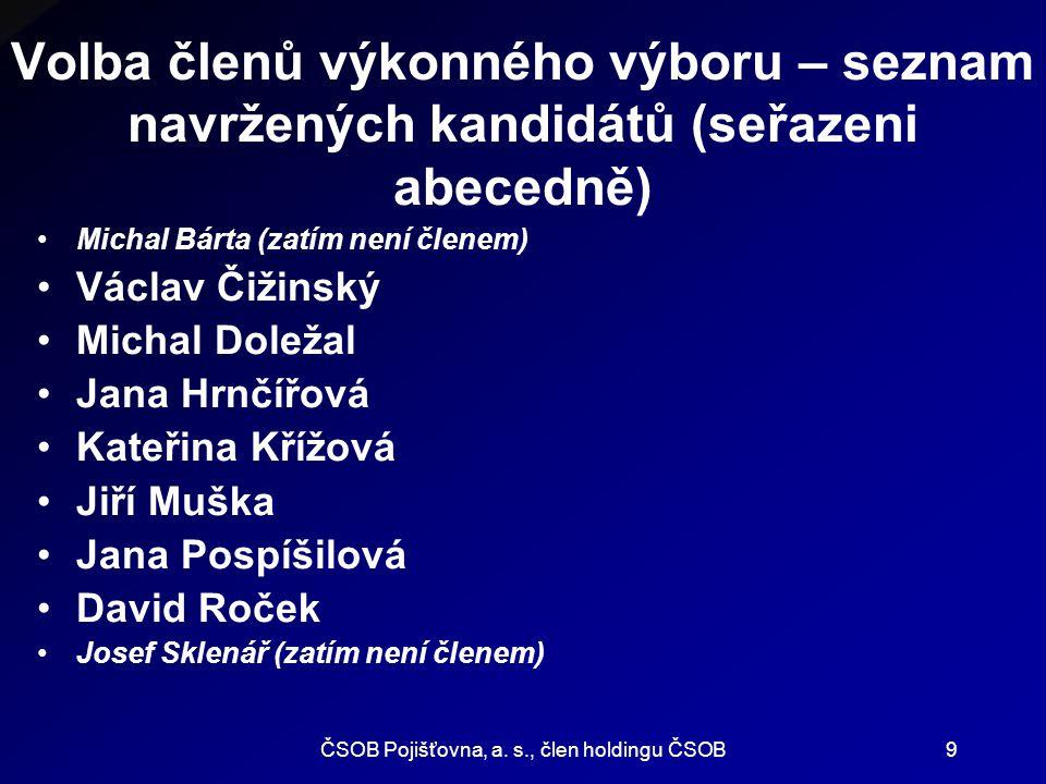 ČSOB Pojišťovna, a. s., člen holdingu ČSOB10 Díky moc Vám všem za účast.