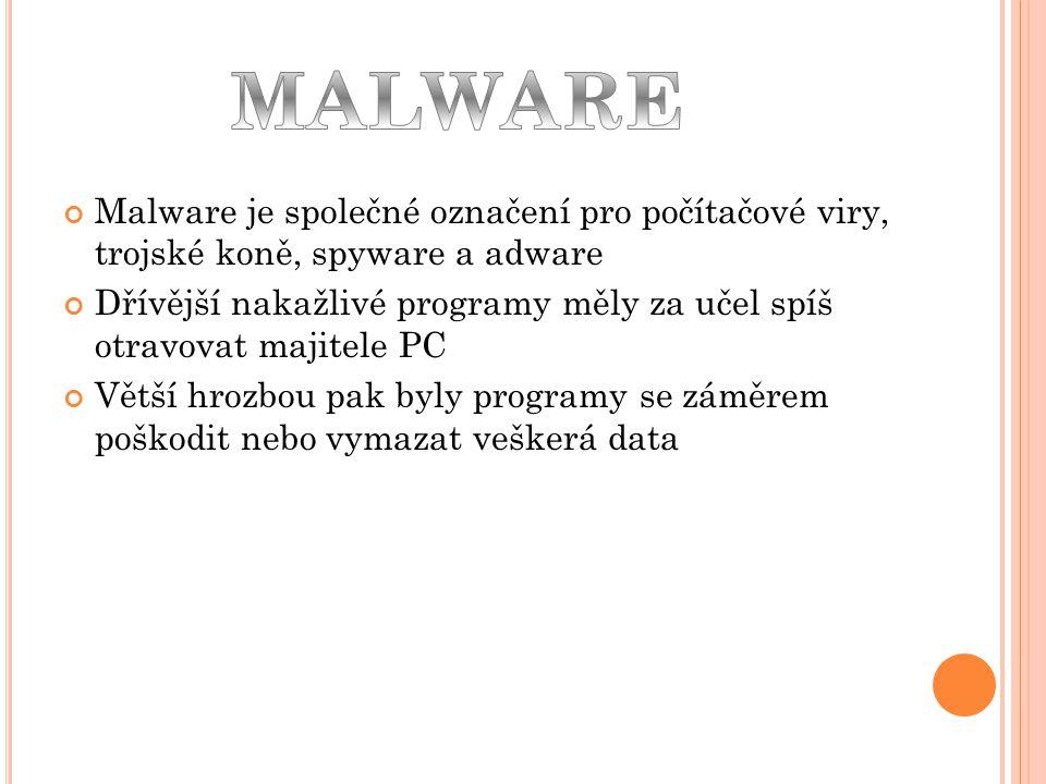 Spyware je program využívající internetu k odesílaní dat z počítače bez vědomí majitele Bývají to například i hesla, nebo čísla kreditních karet.