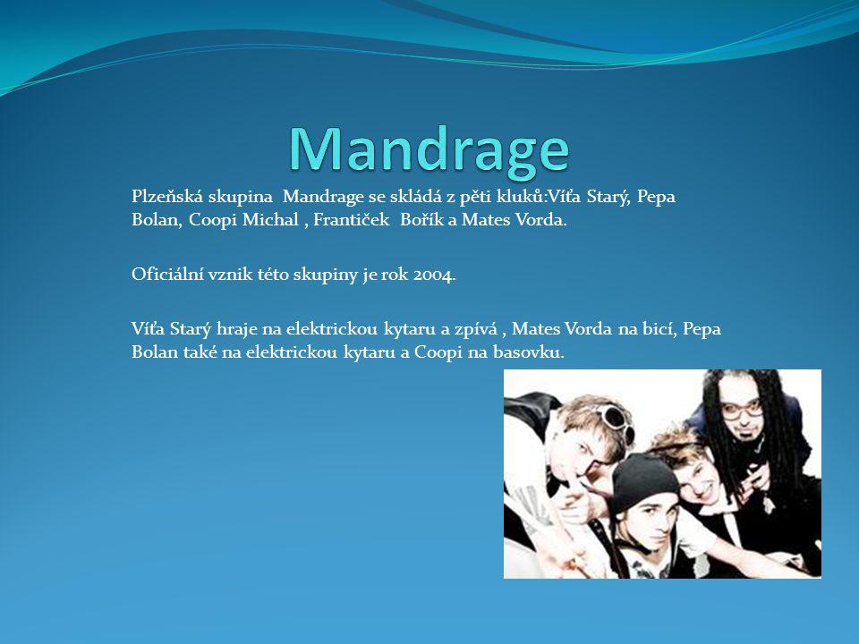 Plzeňská skupina Mandrage se skládá z pěti kluků:Víťa Starý, Pepa Bolan, Coopi Michal, Frantiček Bořík a Mates Vorda. Oficiální vznik této skupiny je