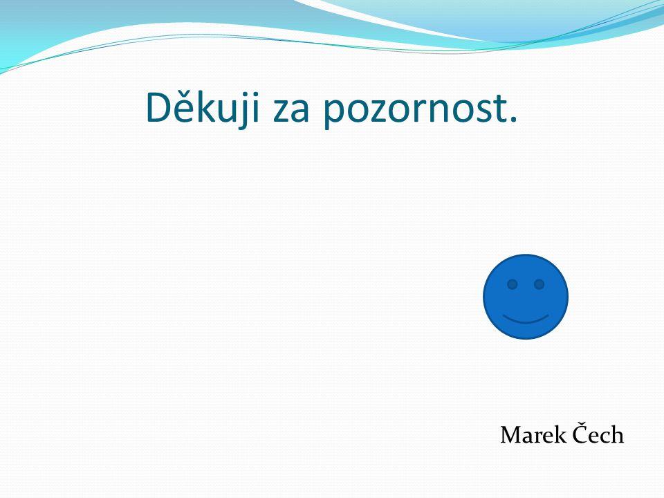 Děkuji za pozornost. Marek Čech
