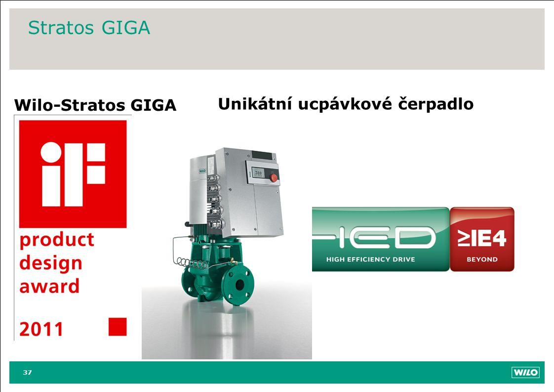 Stratos GIGA Wilo-Stratos GIGA Unikátní ucpávkové čerpadlo 37