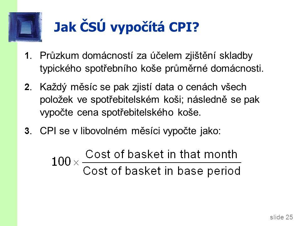 slide 25 Jak ČSÚ vypočítá CPI.