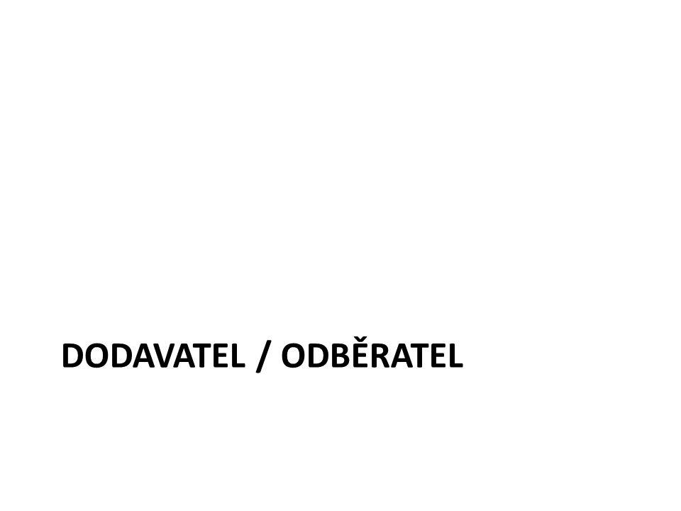 DODAVATEL / ODBĚRATEL