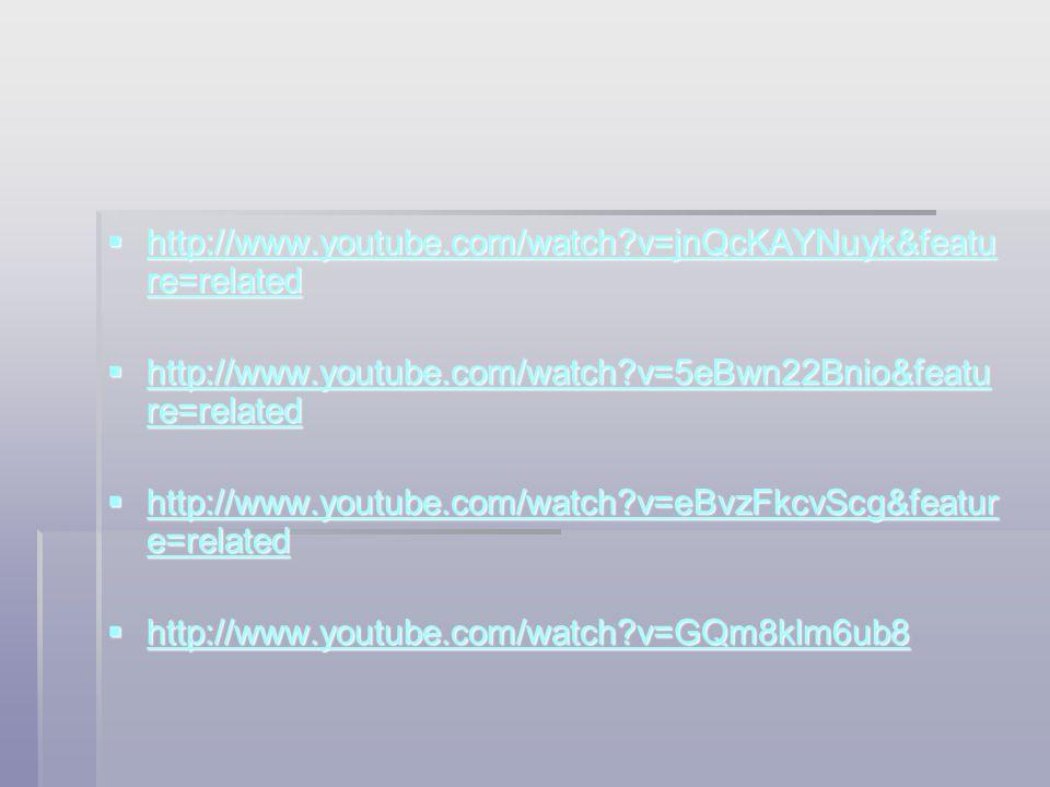 http://www.youtube.com/watch?v=jnQcKAYNuyk&featu re=related http://www.youtube.com/watch?v=jnQcKAYNuyk&featu re=related http://www.youtube.com/watch
