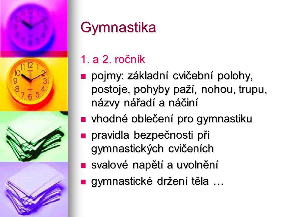 Gymnastika 1.a 2.