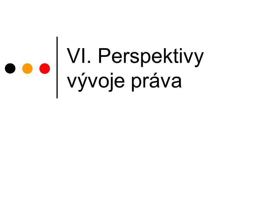 VI. Perspektivy vývoje práva