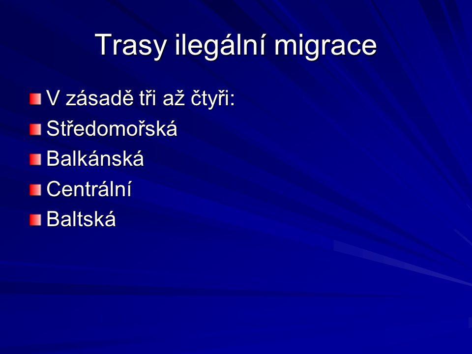 Počty zadržených migrantů na hranicích Německo, VB a Francie v desítkách tisíc Česká republika dříve velmi oblíbená, v roce 1998 přes 40.000 zadržení ale, 2006 již okolo 5.000 Polsko tradičně nízké počty, ale otázka efektivity ochrany hranic Ukrajina loni zadržela přes 30.000 lidí, ale efektivita odhadována velmi malá – 5-10%