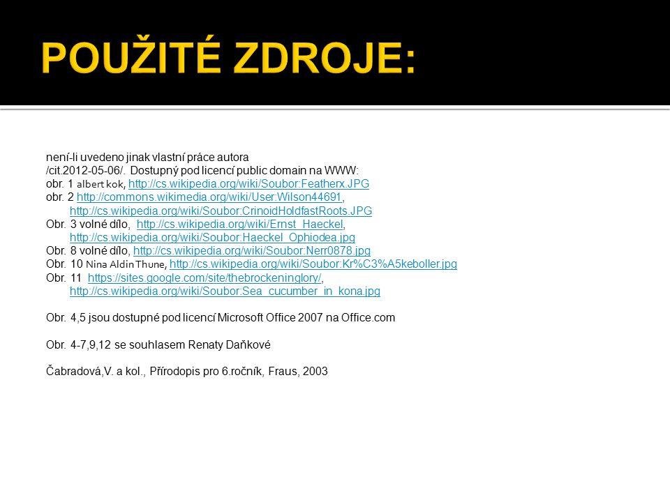 není-li uvedeno jinak vlastní práce autora /cit.2012-05-06/.