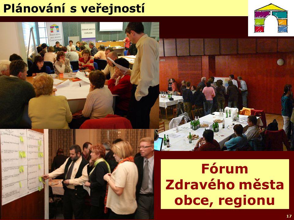 © NSZM ČR 200717 Plánování s veřejností Fórum Zdravého města obce, regionu