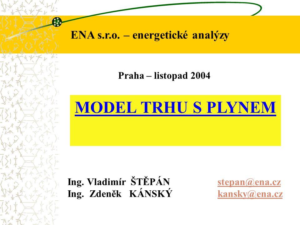 ENA s.r.o.– energetické analýzy MODEL TRHU S PLYNEM Ing.