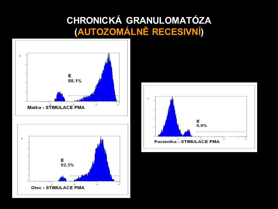 CHRONICKÁ GRANULOMATÓZA (AUTOZOMÁLNĚ RECESIVNÍ)