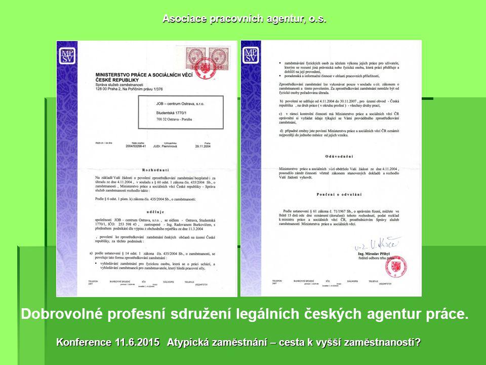 Od roku 2011 diskriminační povinné pojištění agentur práce proti úpadku pod hrozbou odebrání povolení VÝSLEDEK REGULACE.