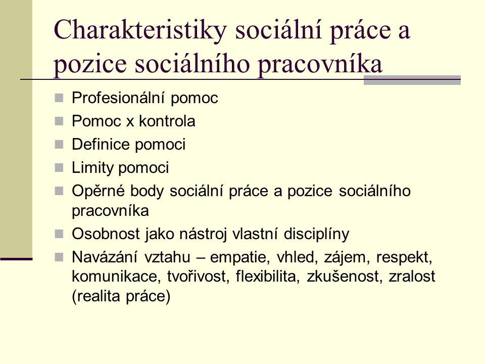 Vztah sociální práce k jiným oborům Psychologie Právo Medicína Sociologie Sociální práce
