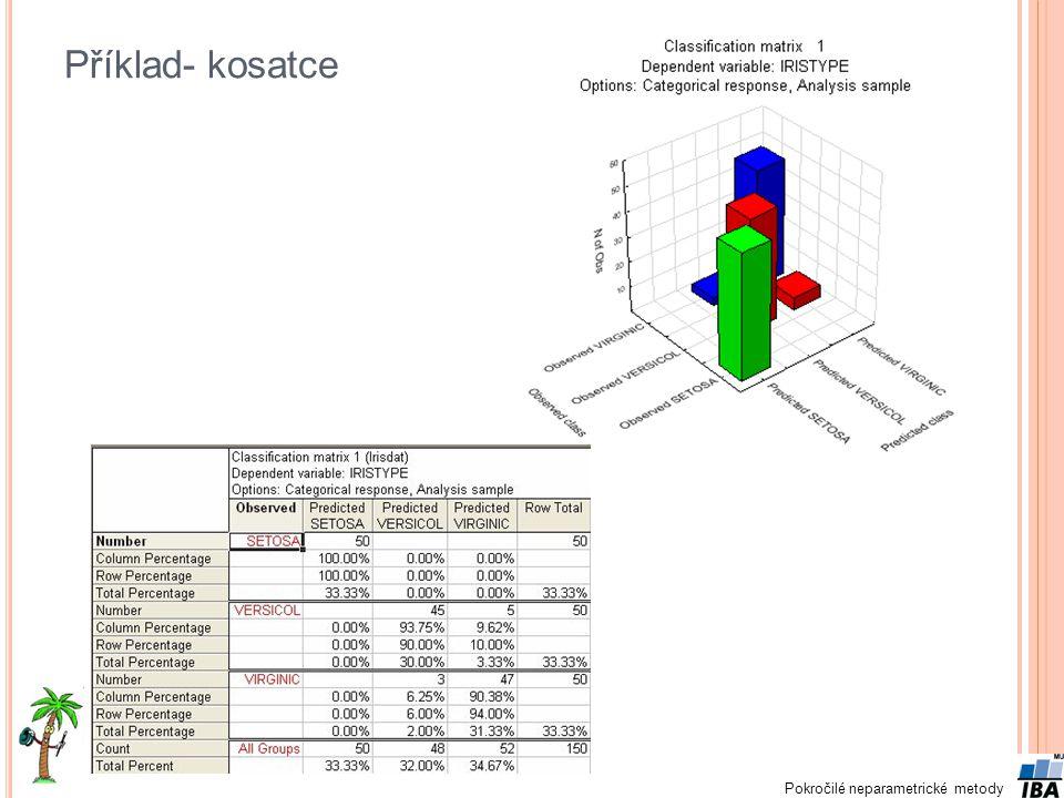 Pokročilé neparametrické metody Příklad- kosatce