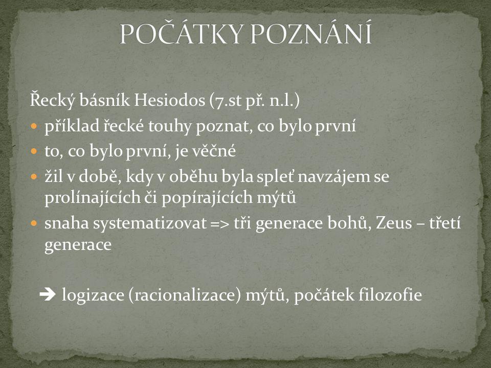 Řecký básník Hesiodos (7.st př.