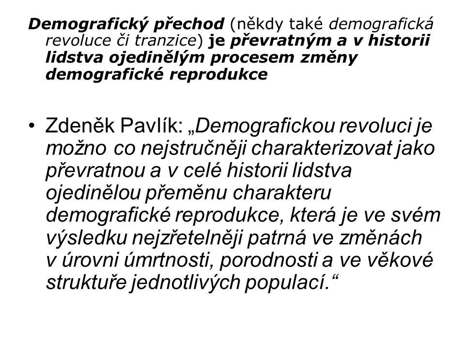 Demografický přechod (někdy také demografická revoluce či tranzice) je převratným a v historii lidstva ojedinělým procesem změny demografické reproduk