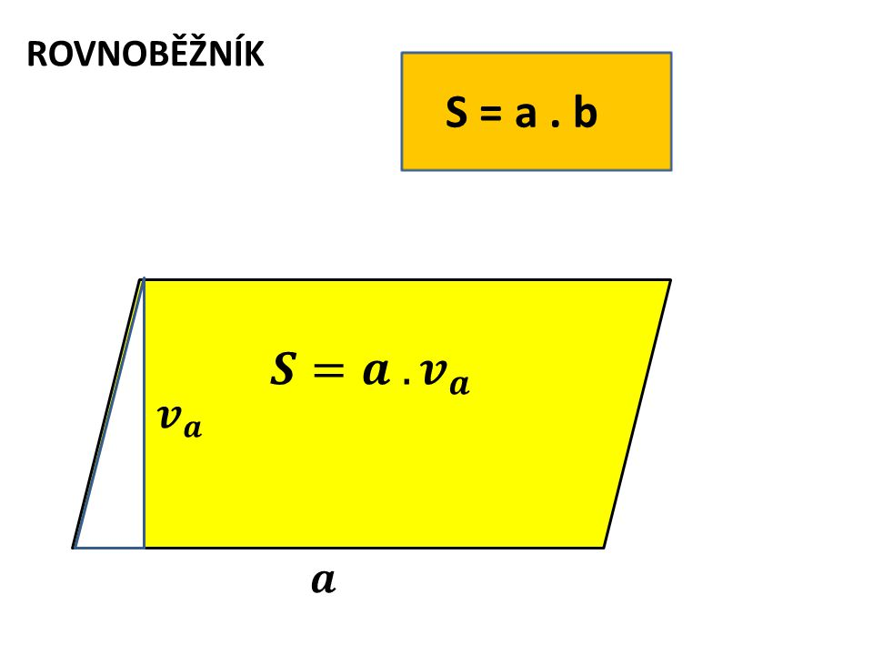 S = a. b ROVNOBĚŽNÍK