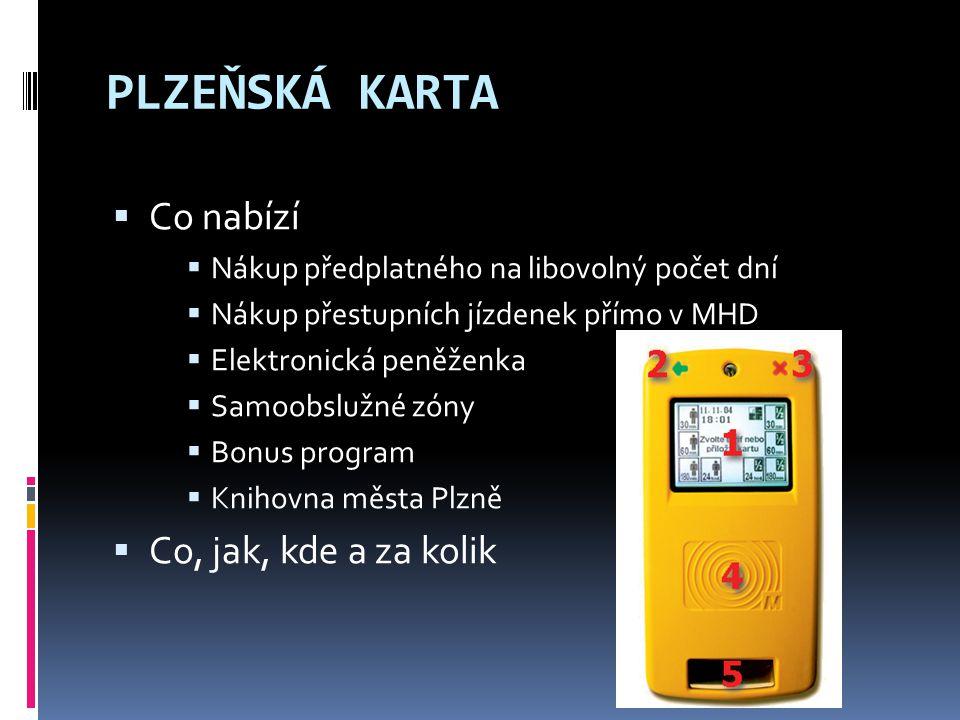ROZDÍL PLZEŇSKÁ KARTA  nepřenosná  variabilnější  více výhod PLZEŇSKÁ JÍZDENKA  přenosná  Ø PK, ale přestupní jízdné  výhradně jako el.peněženka pro nákup v MHD  Ø admin.