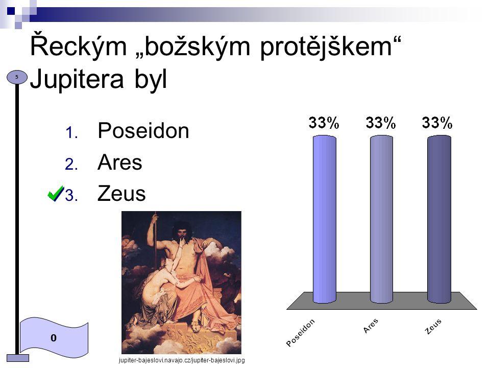 Bohyní moudrosti, válek a řemesel byla 0 5 1. Diana 2. Minerva 3. Venuše http://cs.wikipedia.org/wiki/Soubor:Minerva_Krom%C4%9B%C5%99%C3%AD%C5%BE.jpg