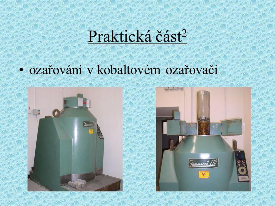 Praktická část 2 ozařování v kobaltovém ozařovači