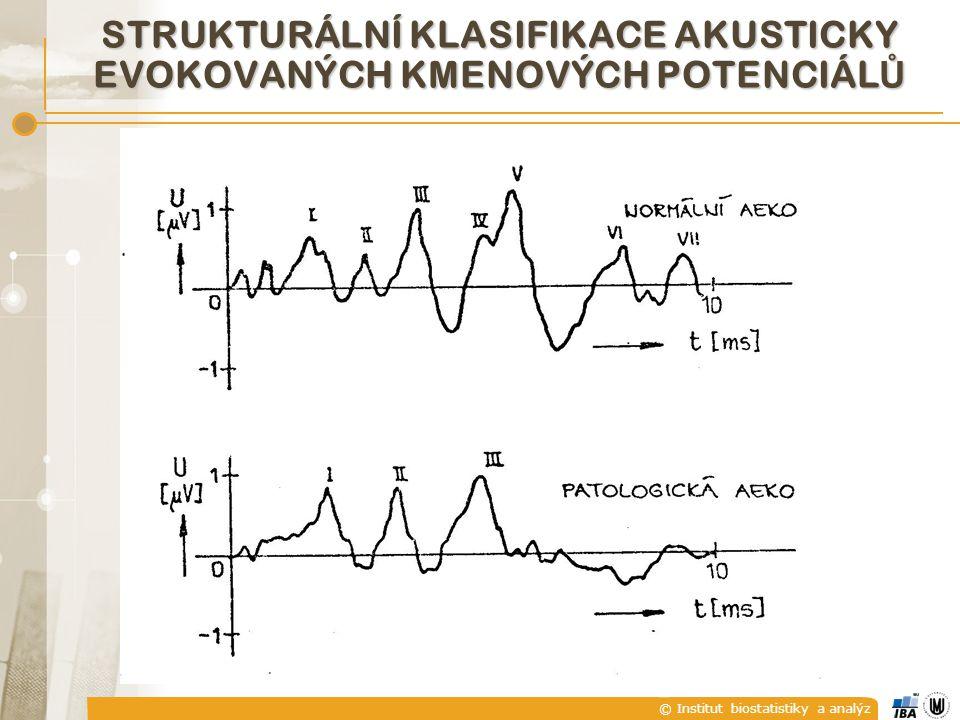 © Institut biostatistiky a analýz STRUKTURÁLNÍ KLASIFIKACE AKUSTICKY EVOKOVANÝCH KMENOVÝCH POTENCIÁL Ů
