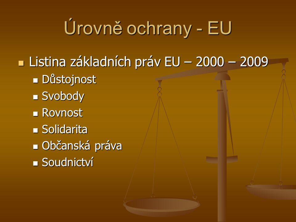 """Úrovně ochrany - EU Rozsah aplikace (Konstantinidis): Rozsah aplikace (Konstantinidis): """" Článek 51 Oblast použití 1."""