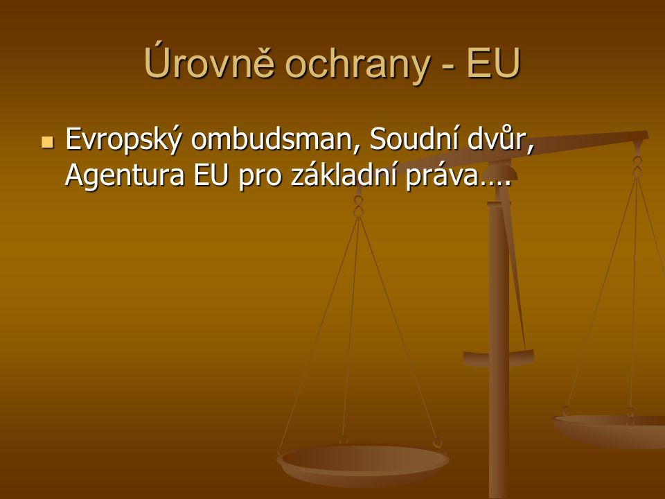 Rada Evropy-obecné Úmluva o ochraně lidských práv a základních svobod 1950, původně dvojice orgánů (Komise a Soud), zrušení dvojstupňovosti 11.