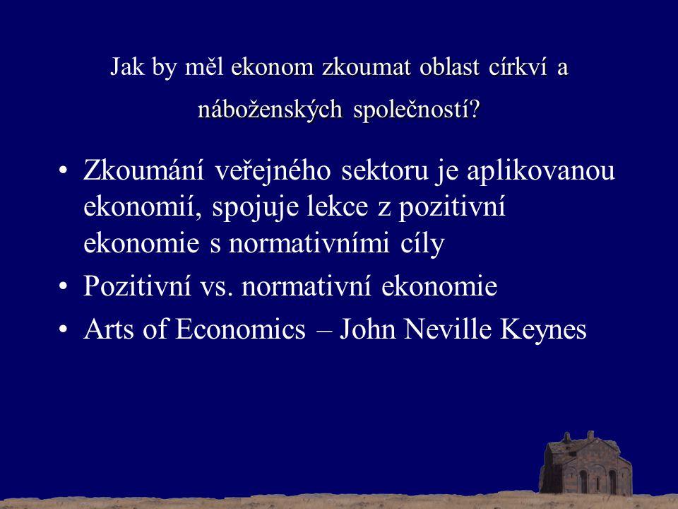 ekonom zkoumat oblast církví a náboženských společností.