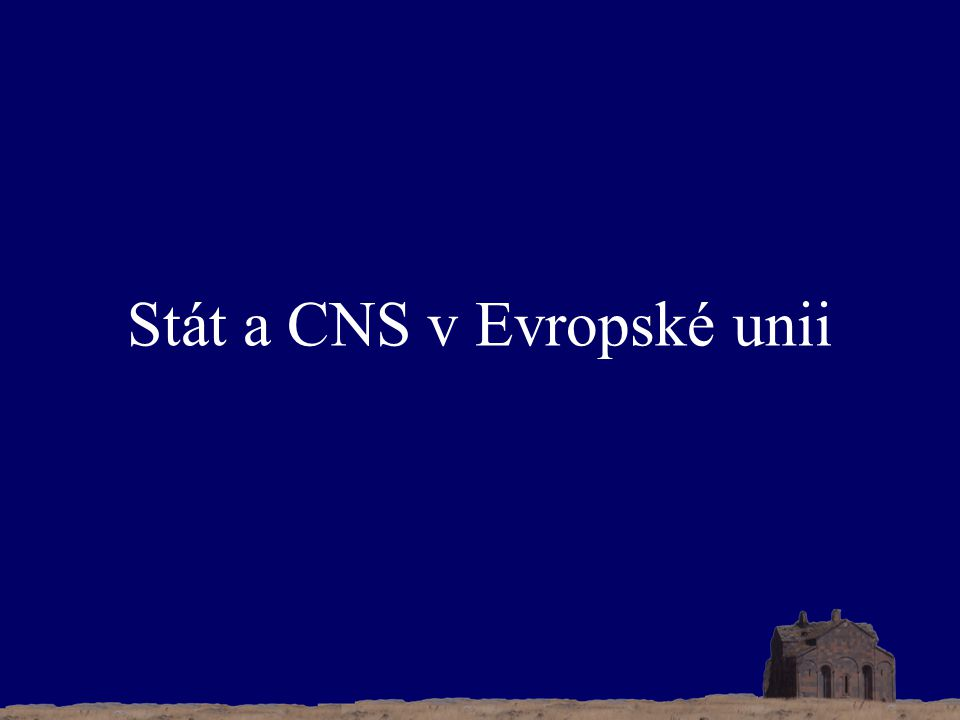 Stát a CNS v Evropské unii