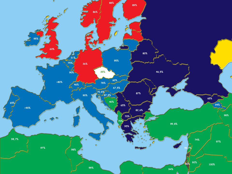 Stát a CNS v Evropě Identifikace, kooperace, odluka Státní církev – Dánsko, Řecko, Finsko, Spojené Království Privilegovaná církev – Španělsko, Itálie, Portugalsko, Švédsko Rovnost CNS – Belgie, Německo, Francie, Irsko, Rakousko, Nizozemí