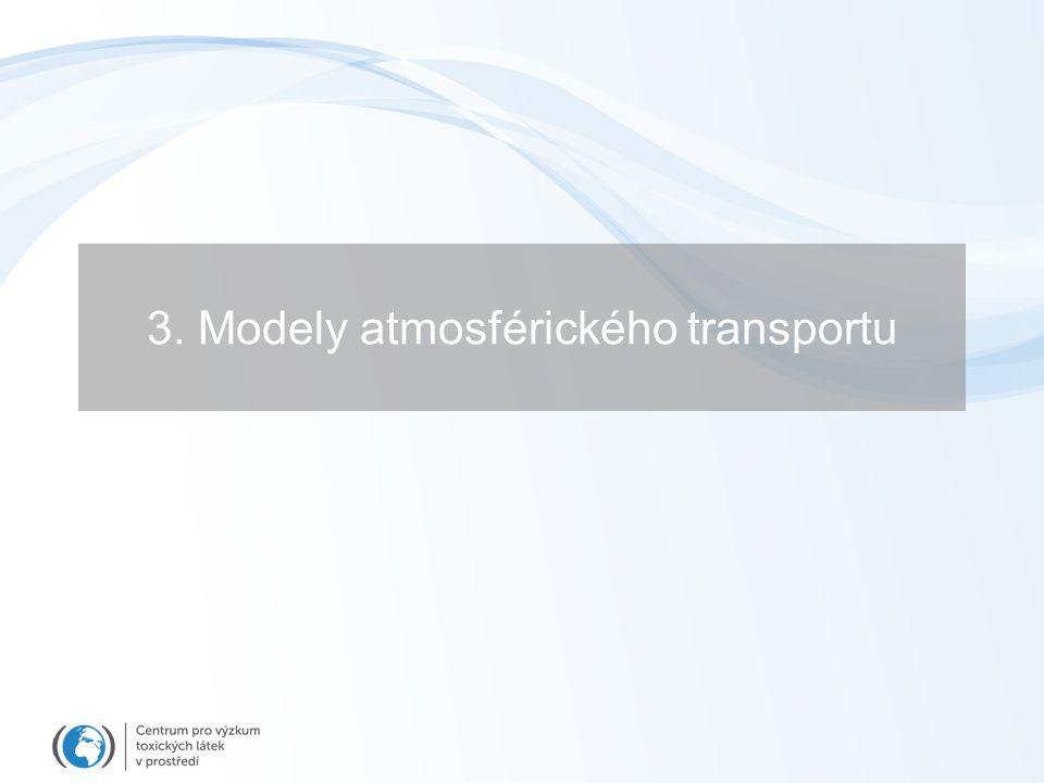 3. Modely atmosférického transportu