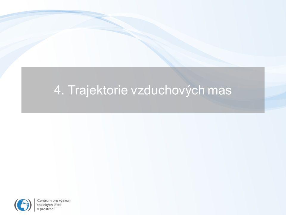 4. Trajektorie vzduchových mas