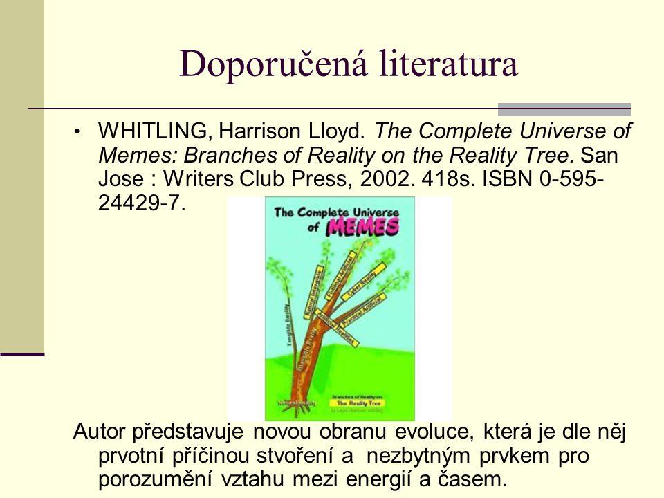 Doporučená literatura WHITLING, Harrison Lloyd.