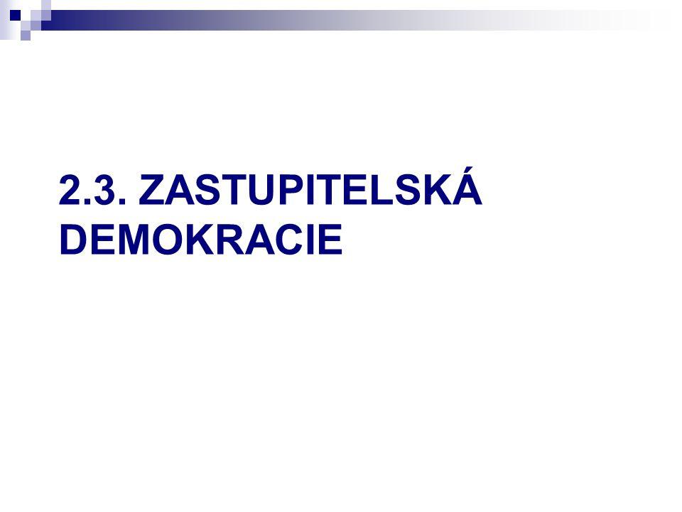 2.3. ZASTUPITELSKÁ DEMOKRACIE