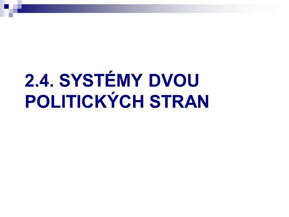 2.4. SYSTÉMY DVOU POLITICKÝCH STRAN