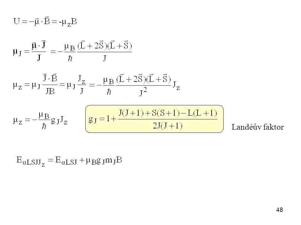 Landéův faktor 48